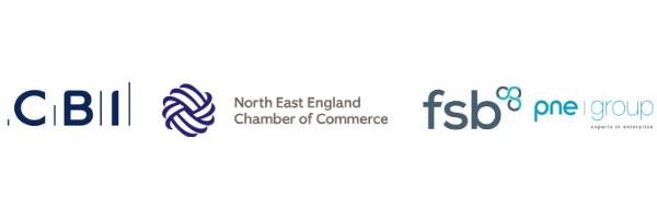 CBI, Chamber of Commerce, FSB, Project North East logos